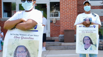 Conn. health workers demand PPE, honor their lost