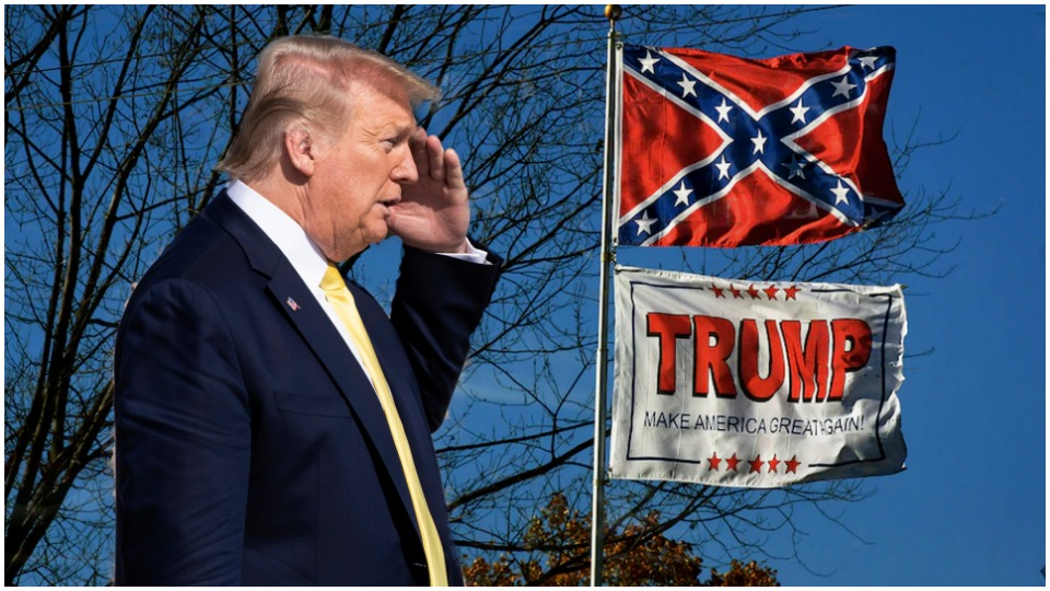Trump hails Confederate names, monuments, and military bases