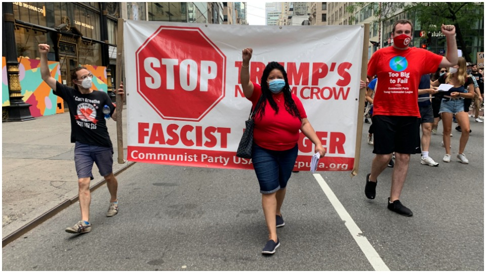 Young Communists hit the streets in New York with Black Lives Matter