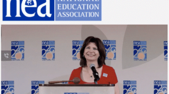 NEA President's valedictory speech challenges teachers to take on Trump