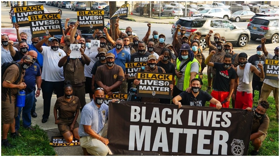 Tens of thousands walk off job in 'Strike for Black Lives'