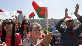 Rival Belorussian protests take place in Minsk as EU ponders new sanctions