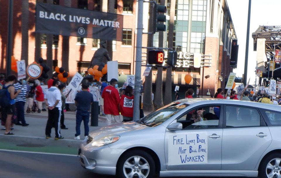 Giants and Warriors workers fight back