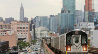 Unionists link growing usage of mass transit to combating global warming