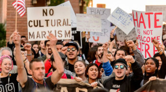 Right wing fuses anti-Semitism with anti-communism in its conspiracy theories