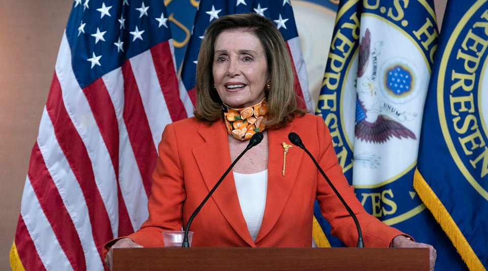 As Trump pushes hate, Pelosi pushes relief for a besieged nation