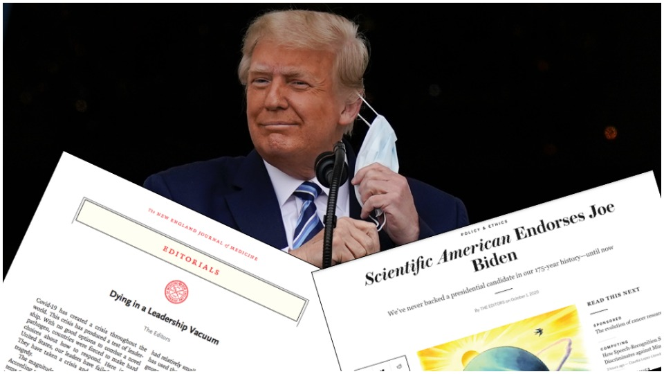 Top medical, scientific journals break non-partisan traditions to call for Trump's ouster