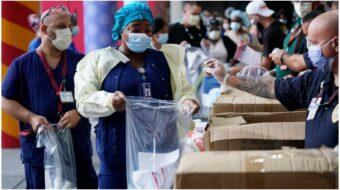 Massive union coalition takes Trump to court over coronavirus PPE failure
