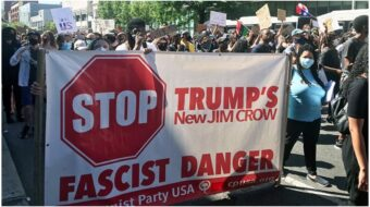 Communist Party election campaign says stop Trump with a #VoteAgainstFascism