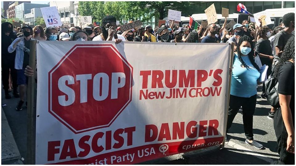Communist Party election campaign says stop Trump with a #VoteAgainstFascism