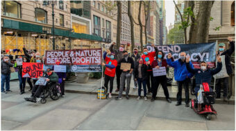 CPUSA hits the streets of New York to protect the results