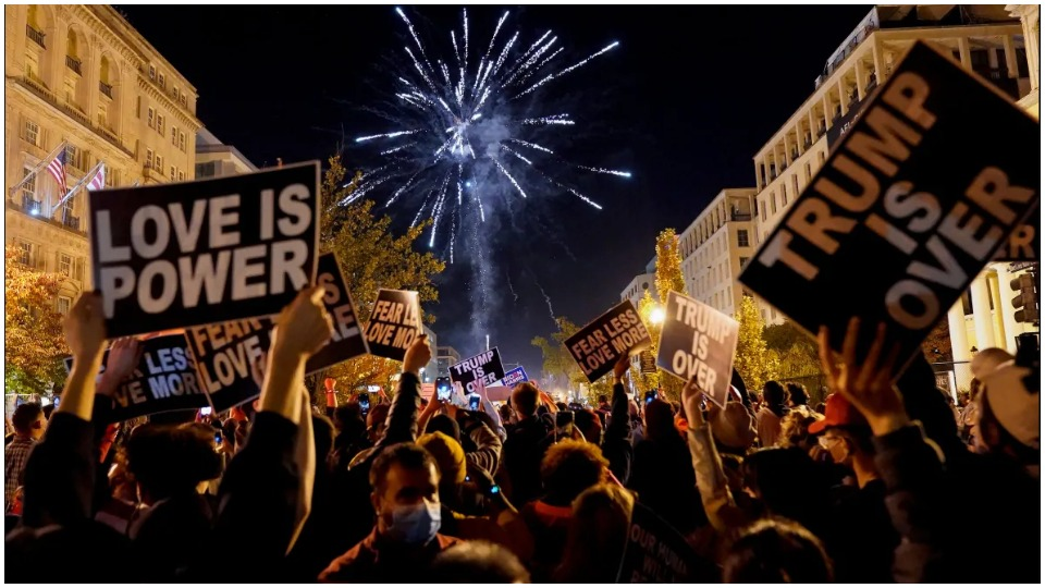 Celebrating victory: 'For a brief, shining moment, Trump was gone'