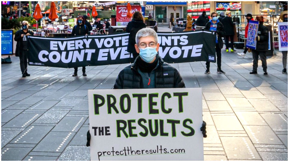 Hit the streets now to demand: Count Every Vote