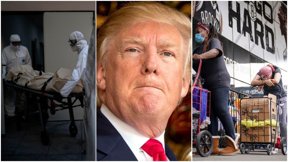 Pandemic responses: Coronavirus deaths climb as Trump stays silent on aid