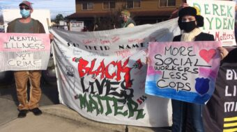 Black Lives Matter vigil mourns Derek Hayden, shot by Seattle police