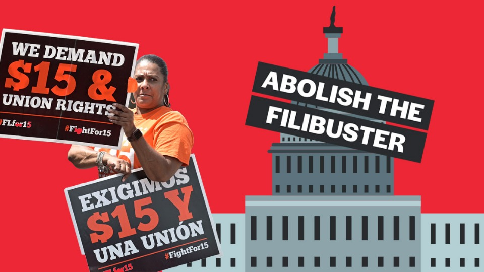 Senate Democrats pull $15 wage from rescue package; progressives target filibuster