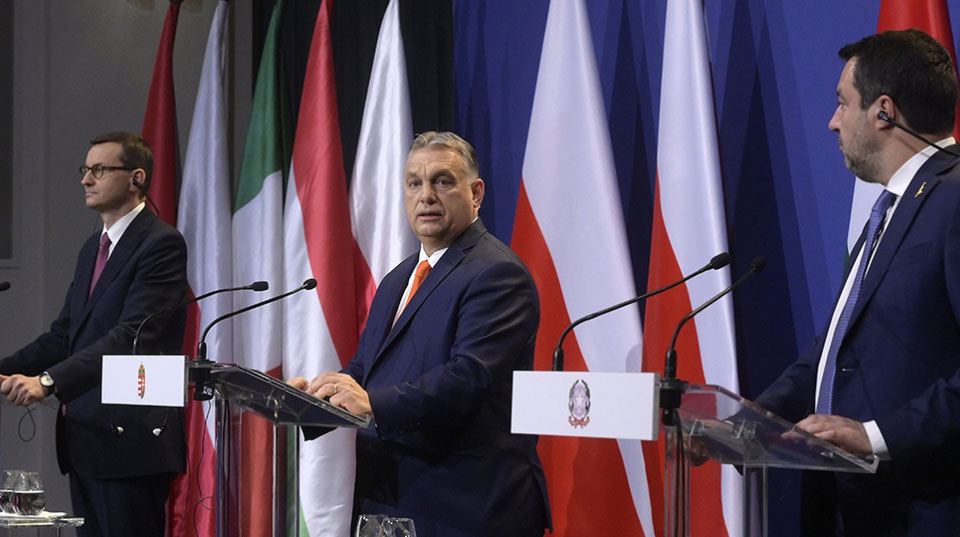 Political center crumbles as Orban, Morawiecki, and Salvini launch reactionary international