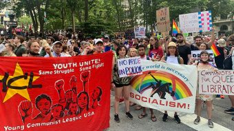 Young Communists take to the streets for Pride Month