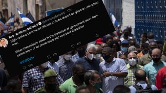 Republican Congressman Anthony Sabatini calls for execution of Cuban leaders