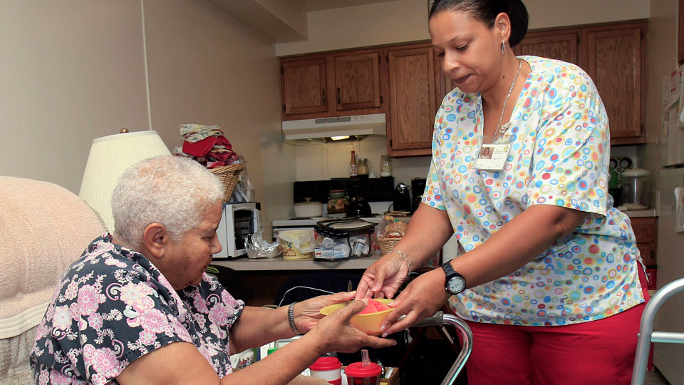 Home care workers hit the streets to demand living wages, respect