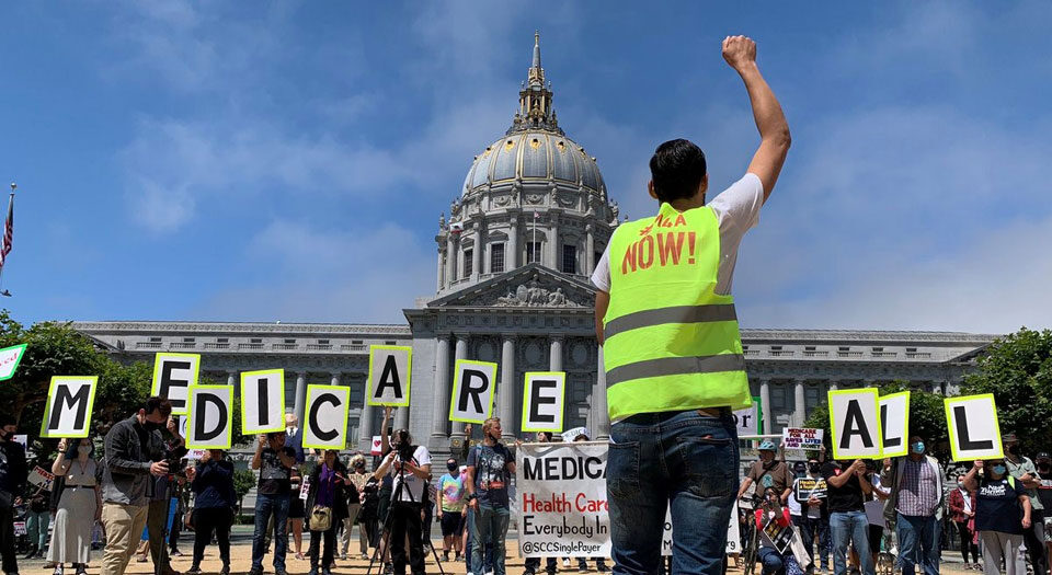 People push Medicare For All, as congressional advocates back off
