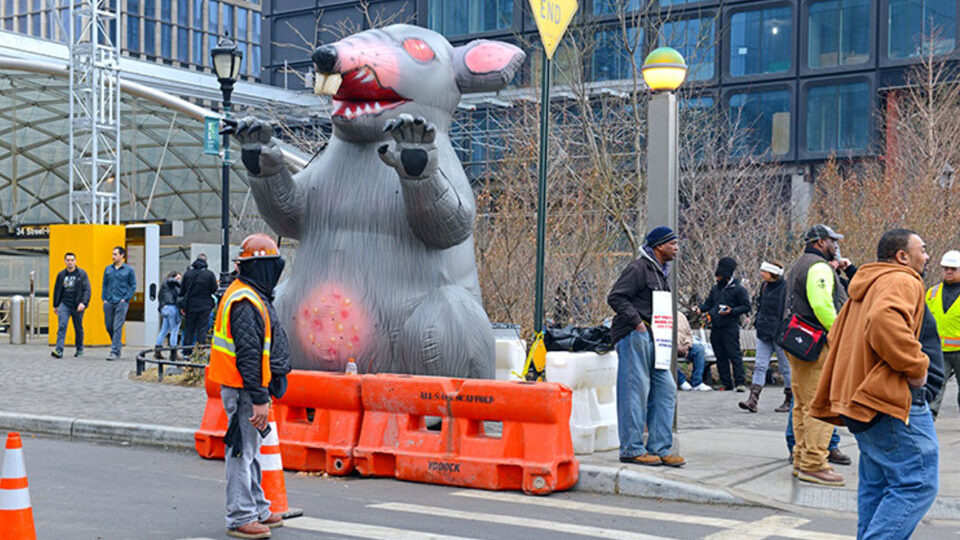 NLRB majority votes to keep Scabby The Rat alive