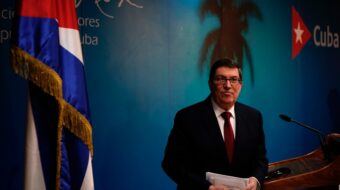 Cuban foreign minister tells U.S. audience of blockade's impact on COVID fight