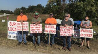 Kentucky bourbon strike: Heaven Hill workers demand fair contract