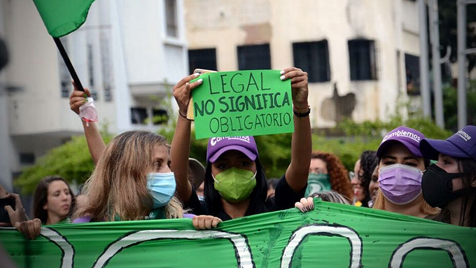 Cientos de mujeres marcharon exigiendo la despenalización y legalización del aborto en Venezuela